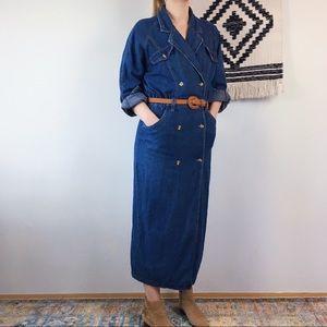 Spiegel Catalog Vintage Denim Coverall Dress ~M